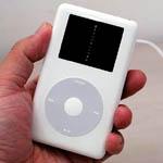iPodPhotoの液晶部にアルバム「生きていてもいいですか/中島みゆき」のジャケットをはめこんで見たところ