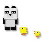 パンダとヒヨコ